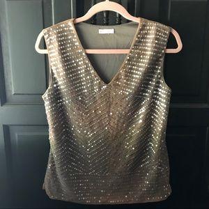 Worthington sleeveless sequin blouse